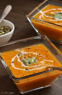Chipotle Sweet Potato Soup... summer or winter, this soup brings a touch of spice to the table! @livlifetoo