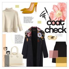 """""""Go Bold: Statement Coats"""" by moody-board ❤ liked on Polyvore featuring Gucci, Givenchy, Fallon, Christian Louboutin, Bobbi Brown Cosmetics and statementcoats"""