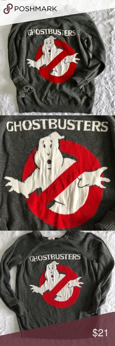 Forever 21 Ghostbusters Gray Crew Sweater Forever 21 Ghostbusters Gray Crew Sweater Loose fitting Sweater size Small Forever 21 Sweaters Crew & Scoop Necks