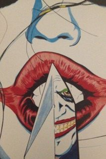 Villains comique sexy Harley Quinn Joker DC main dessinée Poster Art Print - Visit to grab an amazing super hero shirt now on sale