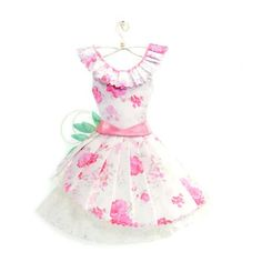 Sweet Lolita Pink Floral Haute Paper Fashion