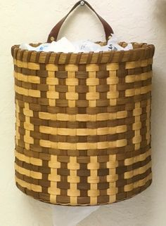 """BASKET PATTERN """"Zelda"""" Recycled Plastic Bag Holder by Bright Expectations on Etsy"""