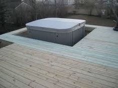 Sunken Oasis Spa with Panels Removed Spa Brochure, Sunken Hot Tub, Jacuzzi Bath, Hot Tub Deck, S Spa, Deck Builders, Outdoor Living, Outdoor Decor, Looks Great
