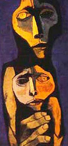 ''Madre y niño'' 1989 Oswaldo Guayasamín