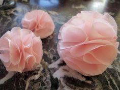 DIY fabric pom poms