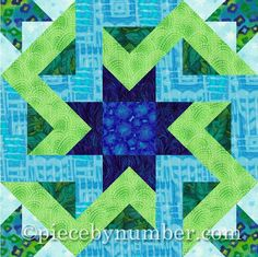 Octagonia Paper Pieced Quilt Block pattern on Craftsy.com