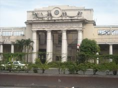 railway stations: Philippines: Manila Old Paco Railway Station Beach Trip, Beach Vacations, Beach Travel, Manila Philippines, Philippines Travel, Train Tracks, Mansions, World, Building
