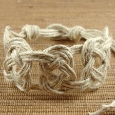 Hemp knots have been used to make things like bracelets, necklaces and rings. This was actually born from a form of textile-making that used knotting...