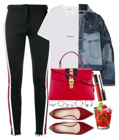 """Untitled #1916"" by mihai-theodora ❤ liked on Polyvore featuring Gucci, Yves Saint Laurent, Dolce&Gabbana, GUESS and Sephora Collection"