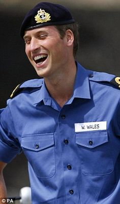 Prince William during Royal Navy training.