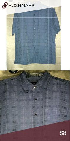 Van Heusen Mens Shirt Button down 63% rayon 37% polyester  comfortable and good condition Van Heusen Shirts Casual Button Down Shirts