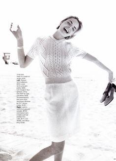 Farrah Summerford shot by Gilles Bensimon for US ELLE July 1996 | kelles scans @ The Fashion Spot.