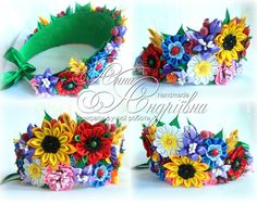 Items similar to Floral Crown with Poppies Cornflowers Camomiles Ukrainian wr Kanzashi Flowers, Felt Flowers, Flower Head Wreaths, Diy And Crafts, Crafts For Kids, Flower Headpiece, Wedding Headband, American Crafts, Floral Crown