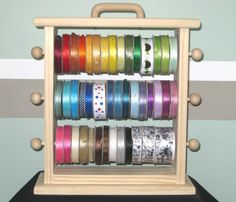 The Original Ribbon Storage Rack  by creativevisions207 on Etsy, $30.00