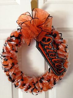 Orioles candy wreath