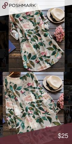 Floral shift dress with pockets. Floral shift dress, polyester fabric, with pockets. Size M (6/8). Super cute, purchased but it's too large for me, hope to find it a new home. cupshe Dresses Midi