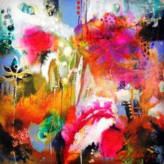"""Tracy Verdugo. 2014. We dwell in possibility. acrylic on canvas. 30x30"""". sold."""