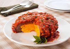 Gosta de Hamburguer de carne? Então vai adorar essa super deliciosa receita de Hamburgão Recheado, que além de um tempero especial é super recheado de Ched