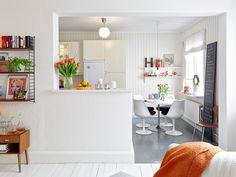 吧檯設計之廚房隔間開一半