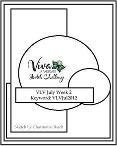 Viva la Verve! July 2012 Week 2 Card Sketch