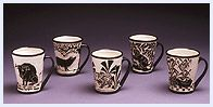 Katherine Hackl pottery  Love ALL the sgraffito! Just gorgeous!