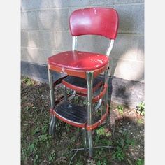 Cosco Stepstool Red now featured on Fab. I got Angie one of these for the shop