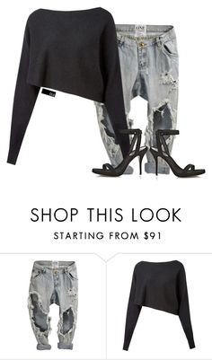 """""""Untitled #1437"""" by chloeoliver-pitelka ❤ liked on Polyvore featuring Crea Concept and Alexander Wang"""