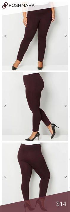 Avenue Fleece-Lined Leggings Size L//XL Black New In Package