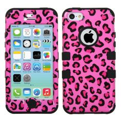 Amazon.com: Thousand Eight(TM) APPLE IPHONE 5C Aztec Armor Hybrid Phone Protector Cover + [FREE LCD Screen Protector Shield(Ultra Clear)+Touch Screen Stylus] (TUFF case Pink Leopard Skin/Black): Cell Phones & Accessories