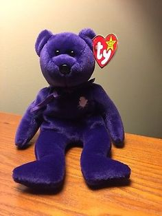 86437abaae9 Rare-1st-Edition-1997-TY-Princess-Diana-beanie-baby-China-Spaced-Mem-Fund