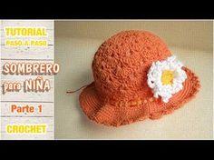Sombrerito o gorro para niña a crochet paso a paso (1 de 2) 181b456fccd