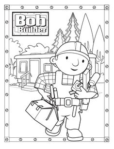 Free Bob The Builder Coloring Pages With Printable Bob The Builder Coloring Pages For Kids