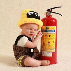 Crochet Newborn Baby Pumpkin Photo Prop Hat & Diaper Set Costume ...