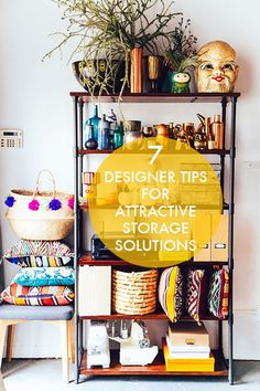 Treat your storage as part of the decor in a small space. These open /westelm/ bookcases hold a mix of /compai/'s essentials + favorite styling tchohckies. Interior Decorating, Interior Design, Bohemian Decorating, Decorating Ideas, Decor Ideas, Decor Inspiration, Foyers, My New Room, Apartment Living