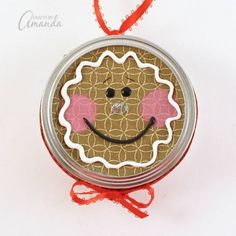 Gingerbread Man Canning Lid Ornament