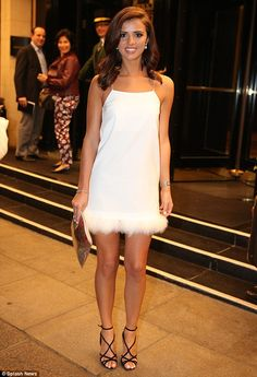 Winter wonderland: Lucy Mecklenburgh looked gorgeous at the launch of her new perfume 'Wings' in London on Wednesday night