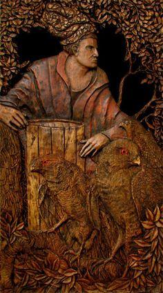 Dominic Koval  'The Barrel Maker celebrates his last Barrel', 2010 Oil Painting