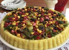 Tart Kalıbında Kumpir Tarifi – Salata meze kanepe tarifleri – The Most Practical and Easy Recipes Quick Meals, Fruit Salad, Tart, Food And Drink, Health Fitness, Cooking, Desserts, Recipes, Appetizers