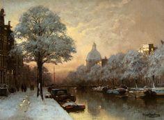 J.C.K. Klinkenberg 'A View of the Singel in Winter, Amsterdam' (1852-1924)