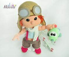 Tommy'nin Pilot Seti – Amigurumi Tarif | Amigurumi Patterns by Havva Designs Handmade Toy Pattern Shop