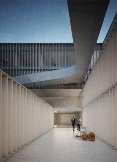 Galeria - Aires Mateus + GSMM Architetti recebem menção honrosa em concurso para uma escola de música na Itália - 4
