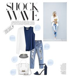 """d e n i m  ✧"" by ew-v0gue ❤ liked on Polyvore featuring New Look, Wet Seal, H&M, Nly Shoes, Topshop, Avenue, LookForLess, outfit, denim and DenimStyle"