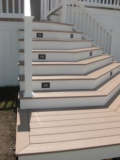 Lighting on the stairs would be good for mom's back porch.  Azek decking w/Cortex hidden fasteners