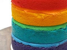 The Great Cake Company: Fat Tuesday: Rainbow Layer Cake