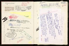 David Foster Wallace's Notebook. Photograph from David Foster Wallace Literary Trust/Harry Ransom Center.