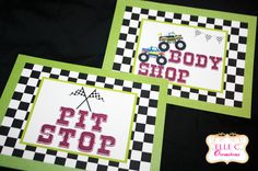 Monster Truck Party  Door Signs