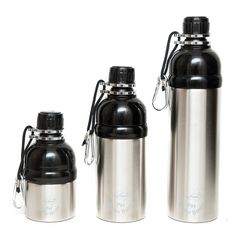 New range of Stainless Steel Pet Water Bottles in and Travel Bottles, Drink Bottles, Pet Water Bottle, Water Bottles, Reflective Dog Collars, Water Drip, Dog Nose, Cat Drinking, Shopping
