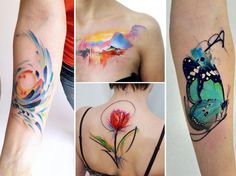 50 of the best watercolour tattoos on Instagram