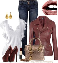 """""""Alexander McQueen Leather Jacket"""" by casuality on Polyvore"""