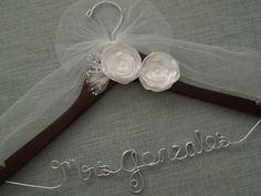 Hey, I found this really awesome Etsy listing at http://www.etsy.com/listing/118035589/personalized-wedding-hanger-white